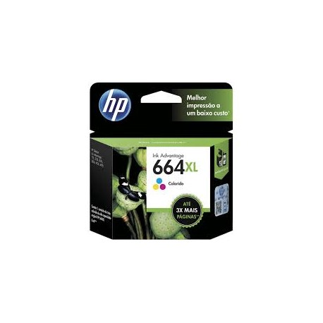 CARTUCHO HP 664 COLOR XL - F6V30AB