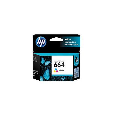 CARTUCHO HP 664 COLOR - F6V28AB